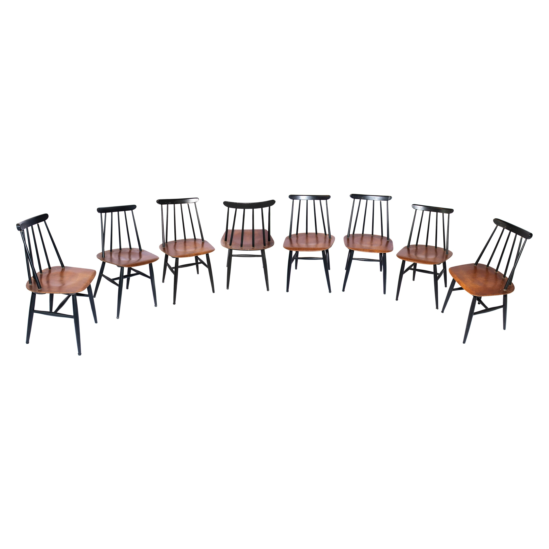 8 Vintage Fanett Dining Chairs by Ilmari Tapiovaara, 1949