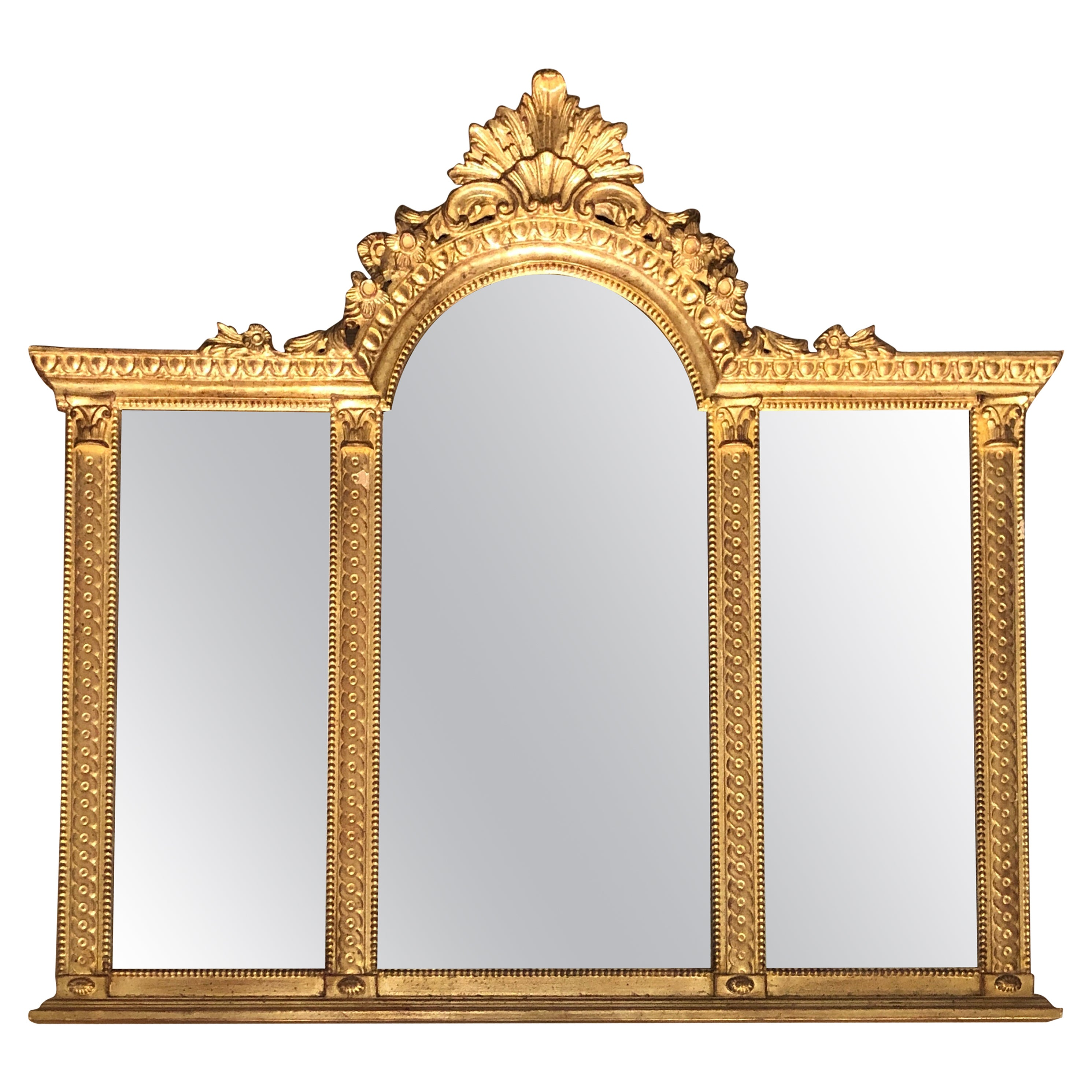Giltwood Carved Louis XVI Style Mirror