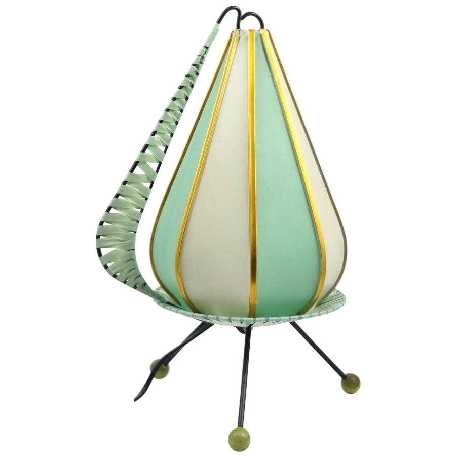 Rare Mint Table Lamp, Handmade, 1960s