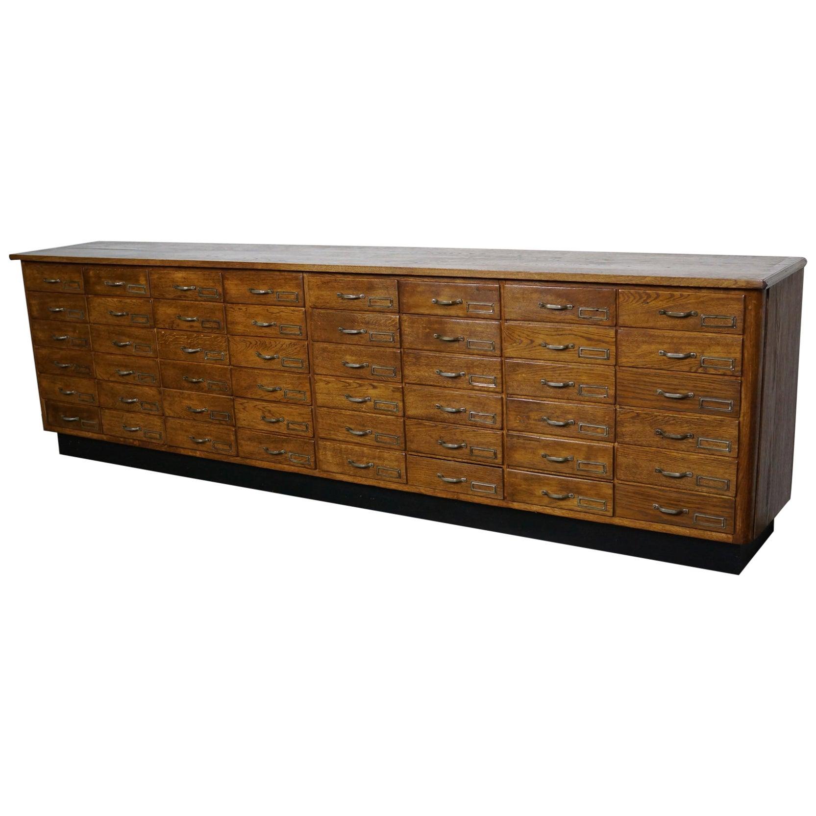Large Dutch Oak Apothecary Cabinet, 1940s