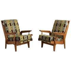 Midcentury Oak Armchairs