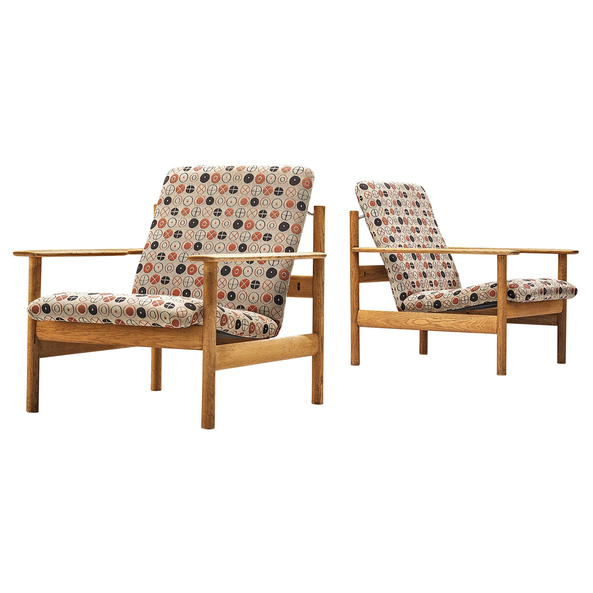 Sven Ivar Dysthe for Dokka Møbler Pair of Lounge Chairs in Charles&Ray Eames Fab