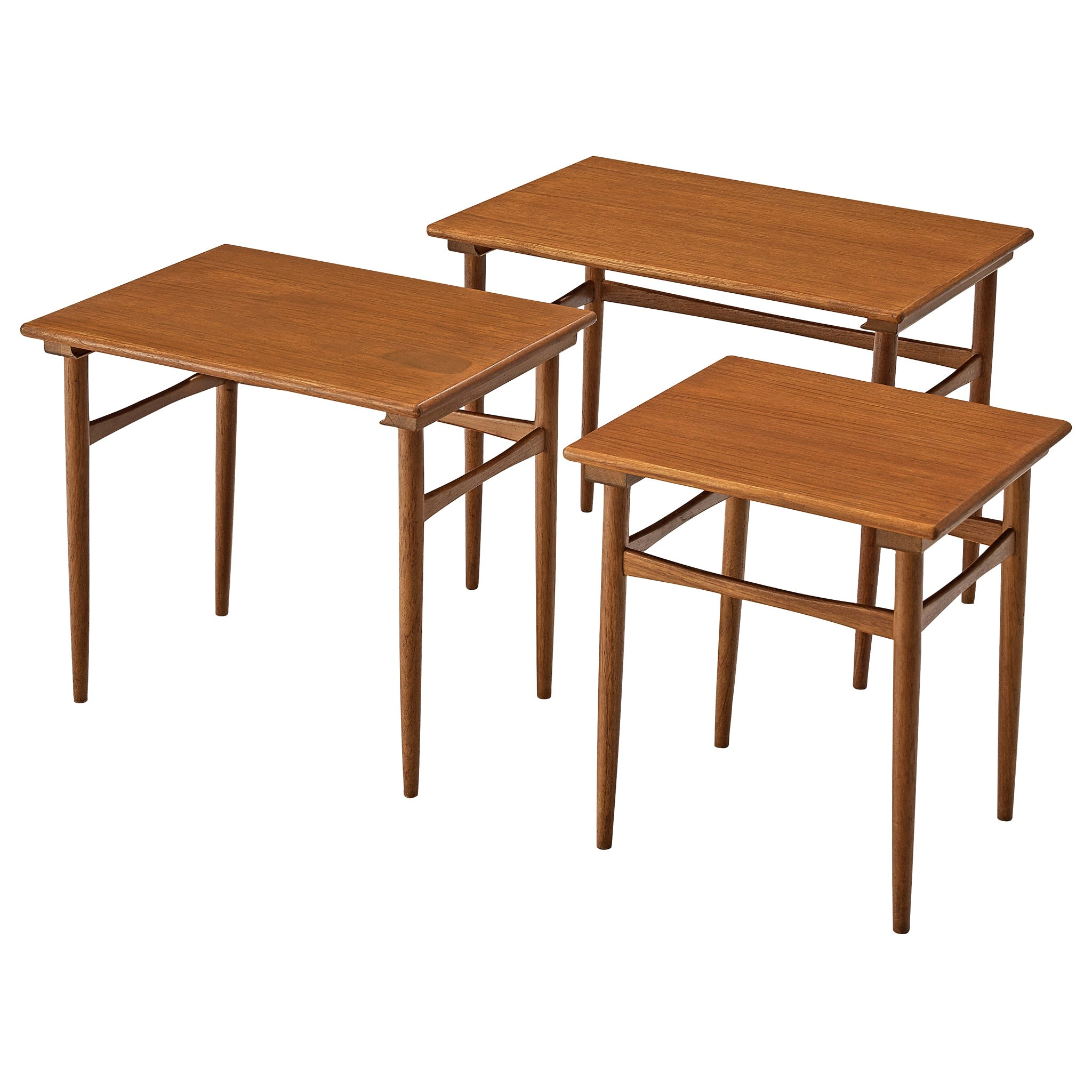 Set of Three Danish Nesting Tables in Teak