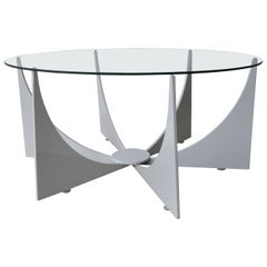 Mid-Century Modern Powder Coated Low Table in Donald Drumm Style