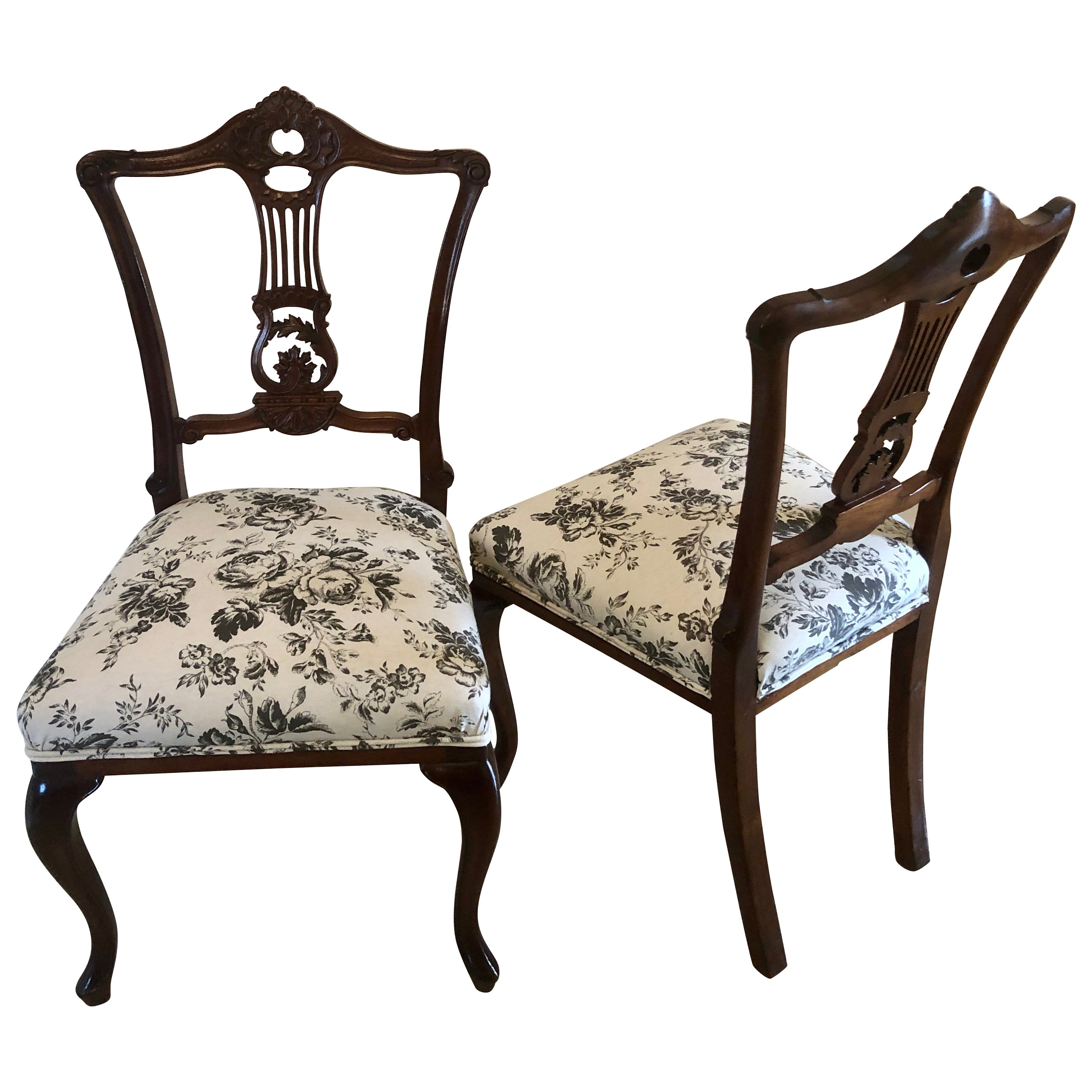 Quality Pair of Antique Mahogany Side Chairs