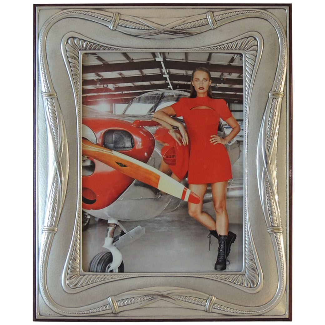 Antique Sterling Silver Decorative Picture Frame by Bruno Castellani
