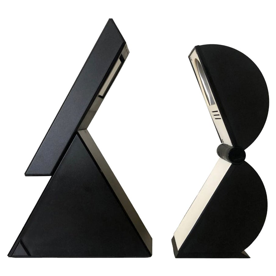 """Set of Table Lamps """"Delta"""" and """"Disco"""" by Mario Bertorelle for JM RDM, 1980s"""