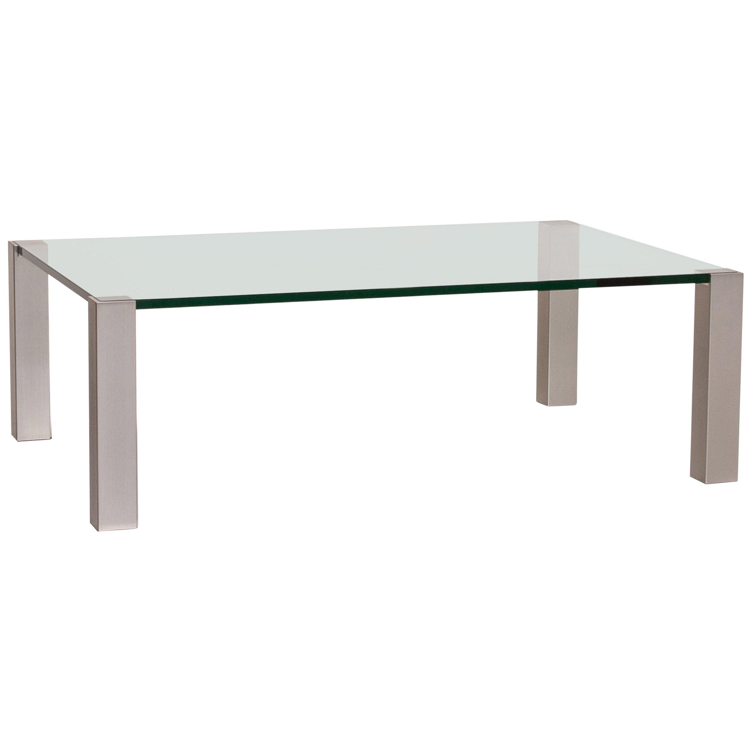 Ronald Schmitt K580 Glass Coffee Table Metal Table