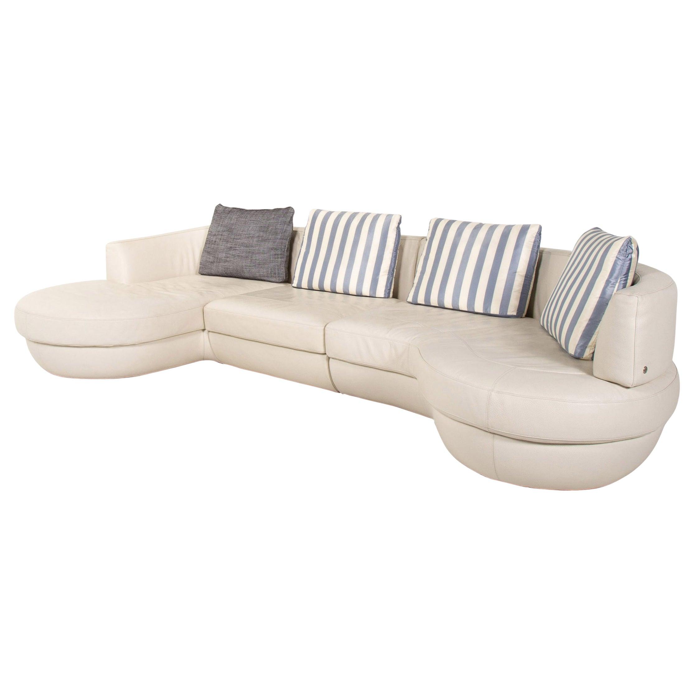 Natuzzi Leather Corner Sofa White Sofa Couch