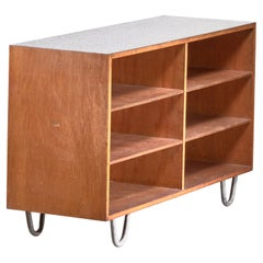 Wooden Credenza with Six Shelves