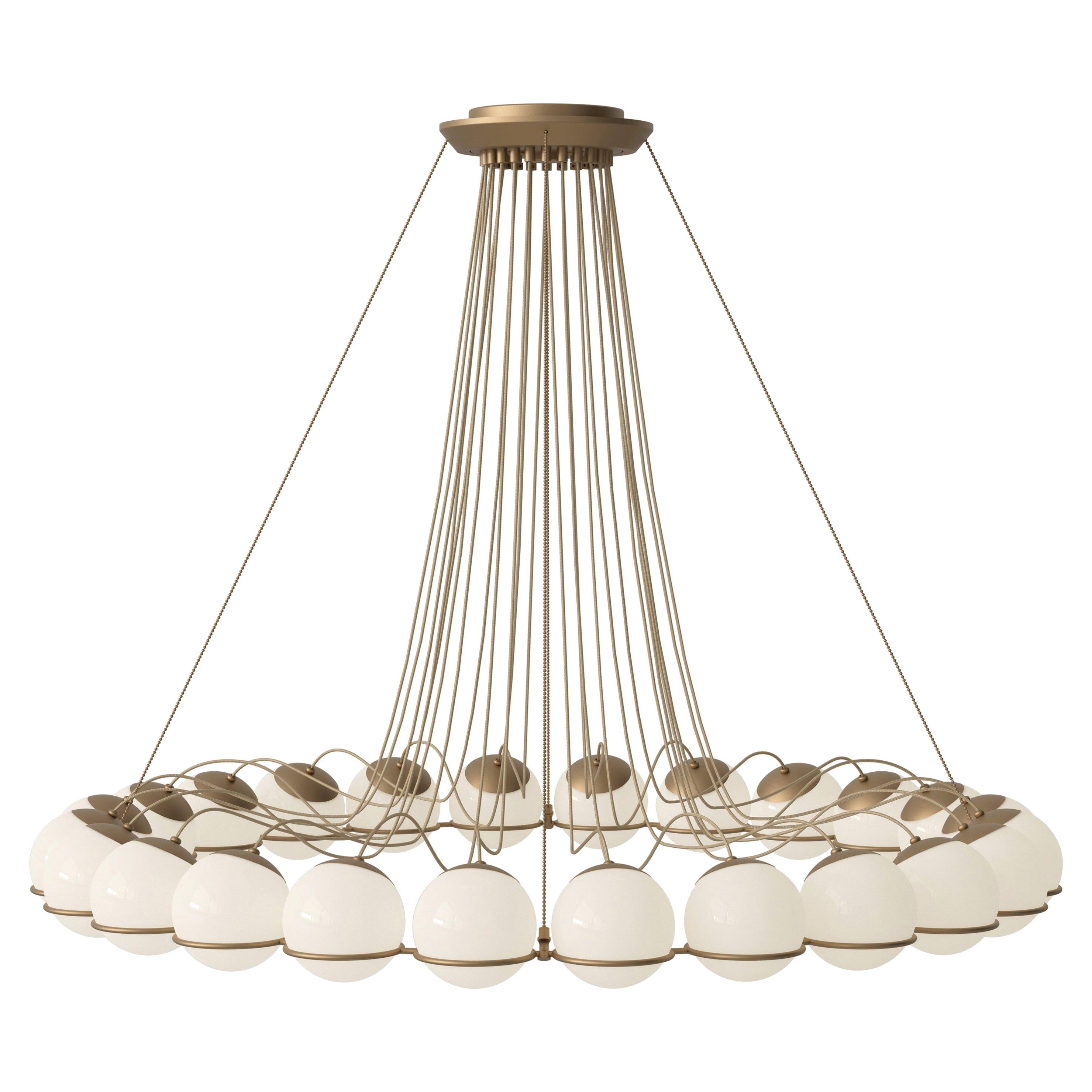 Gino Sarfatti Lamp Model 2109/24/14 Champagne Structure