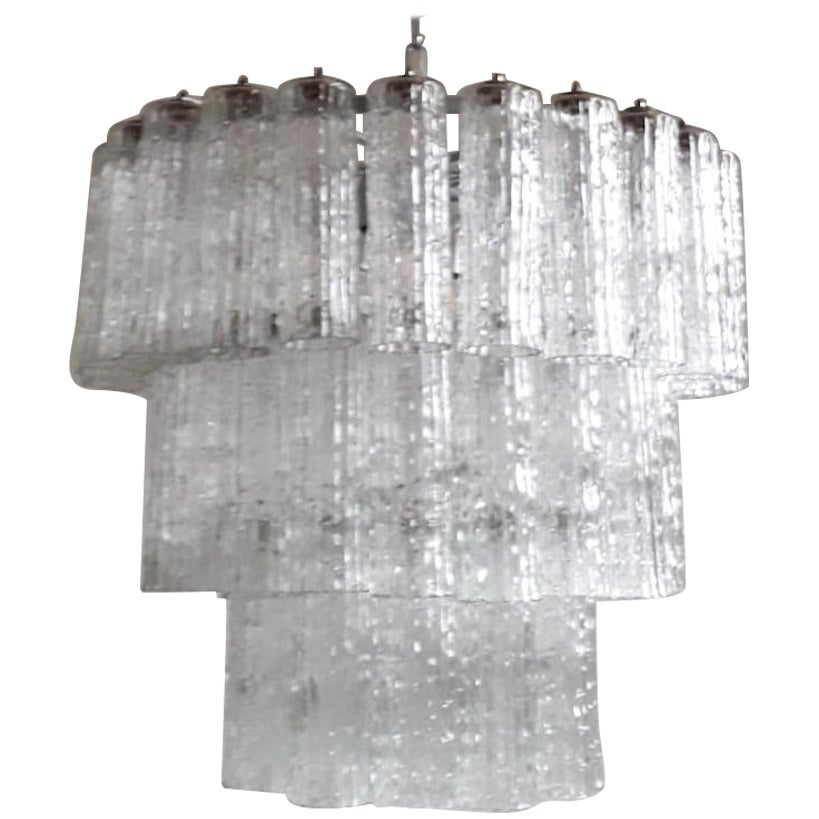 Murano Tubes Chandelier by Venini