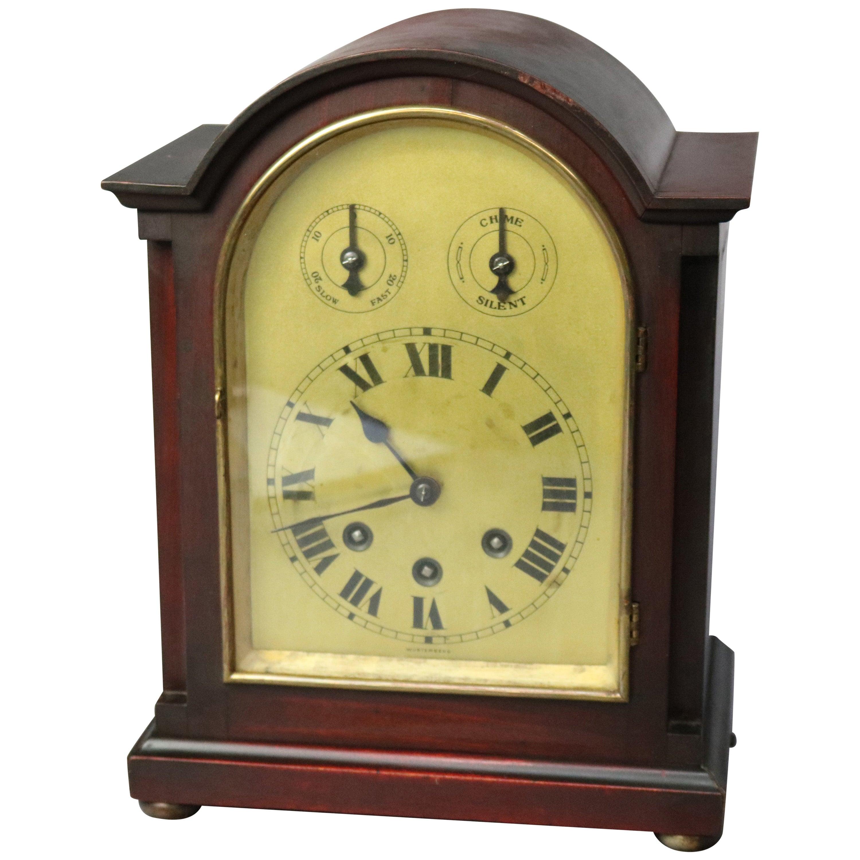 Antique German Junghans Mahogany Shelf or Mantel Clock ...