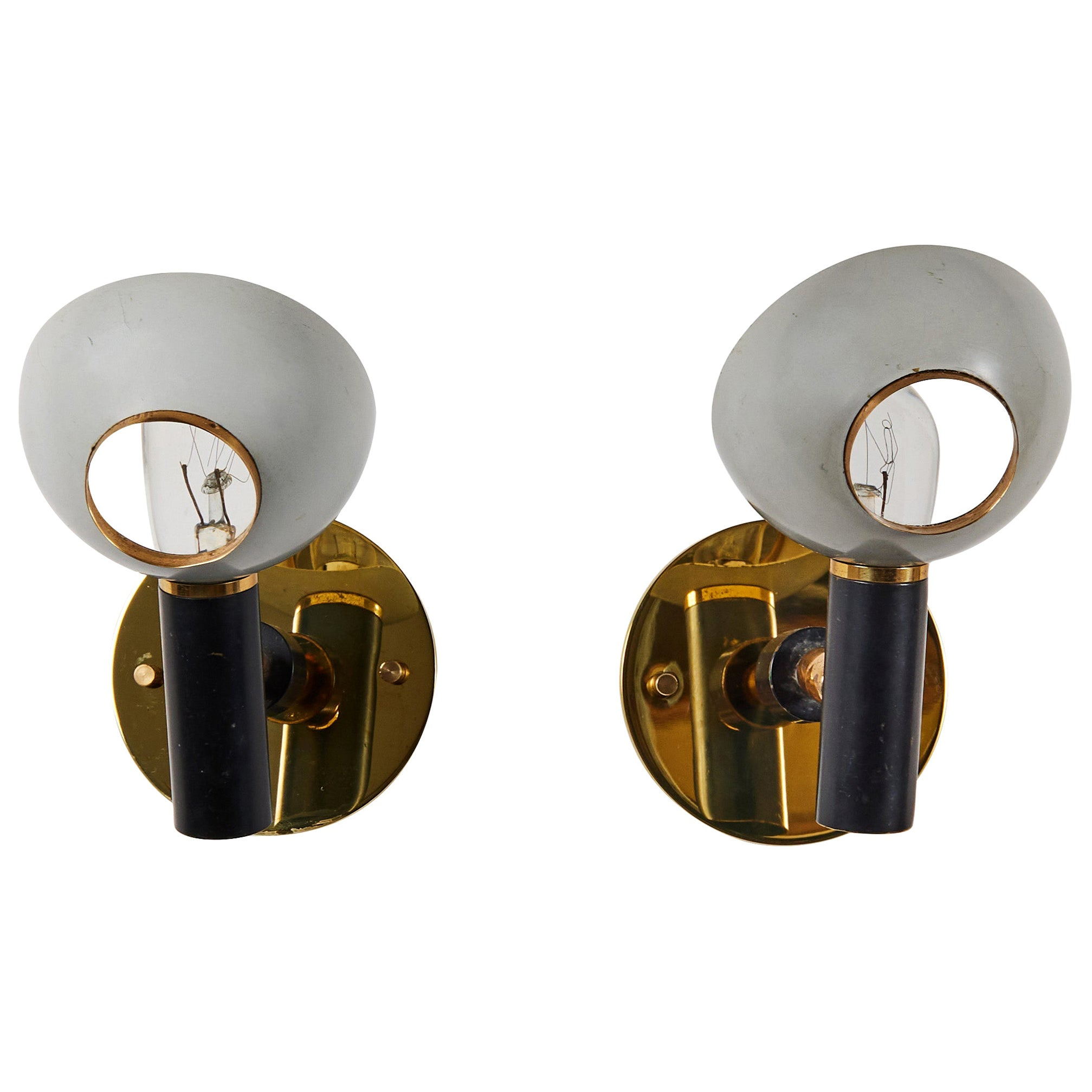 Pair of Sconces by Oscar Torlasco for Lumi