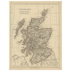 Antique Map of Scotland by Lowry, '1852'