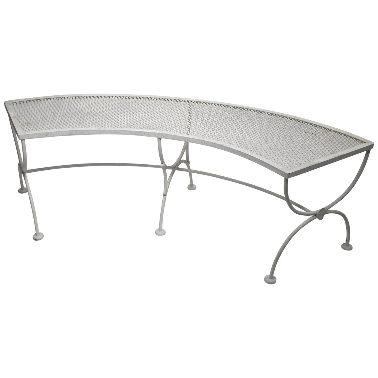 Wrought Iron Garden Patio Benches by Salterini 3 Available
