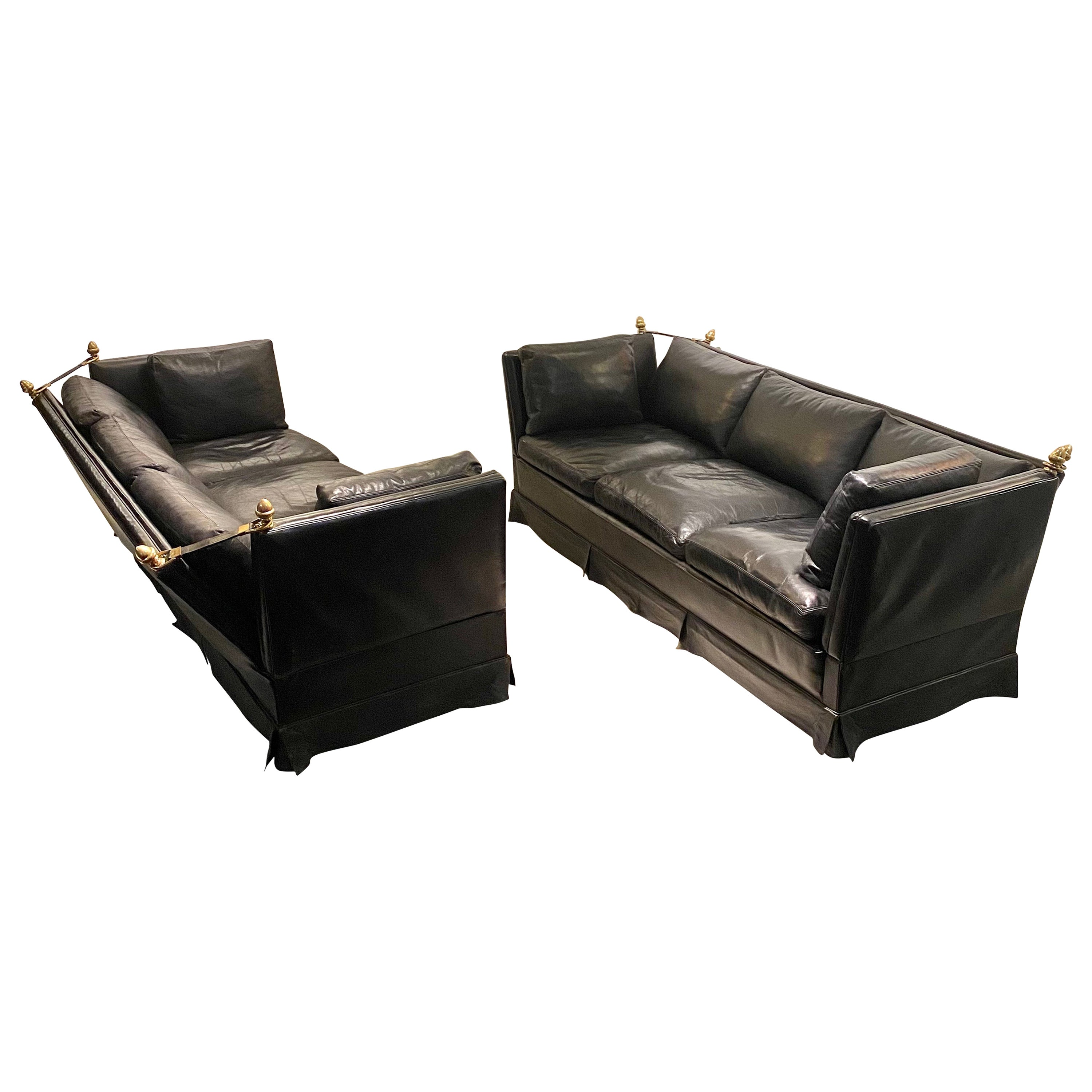 Pair of Neoclassical Sofa by Maison Jansen, France, 1970s