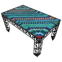 Artist Made Murano Glass Tile Mosaic Coffee Table, circa 1970s
