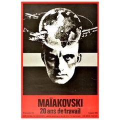 Original Vintage Poster Mayakovsky Exhibition Paris Constructivist Photo Design