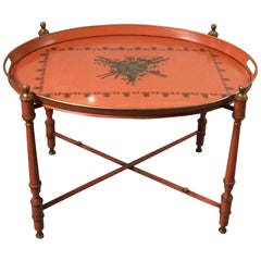 Italian Neoclassical Style Oval Tole Tray Table