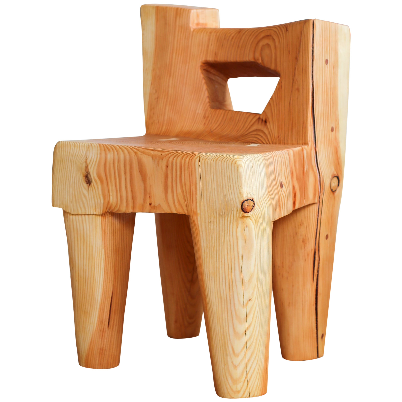 Valletta Fir Chair Sculpted by Vince Skelly