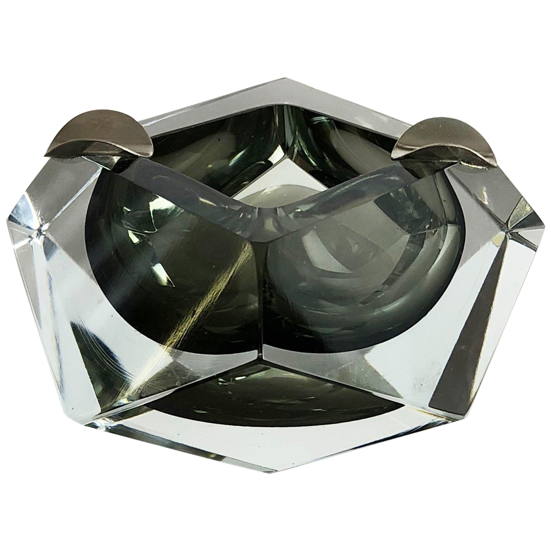 Murano Glass Sommerso Bowl Ashtray Element by Flavio Poli, Italy, 1970s