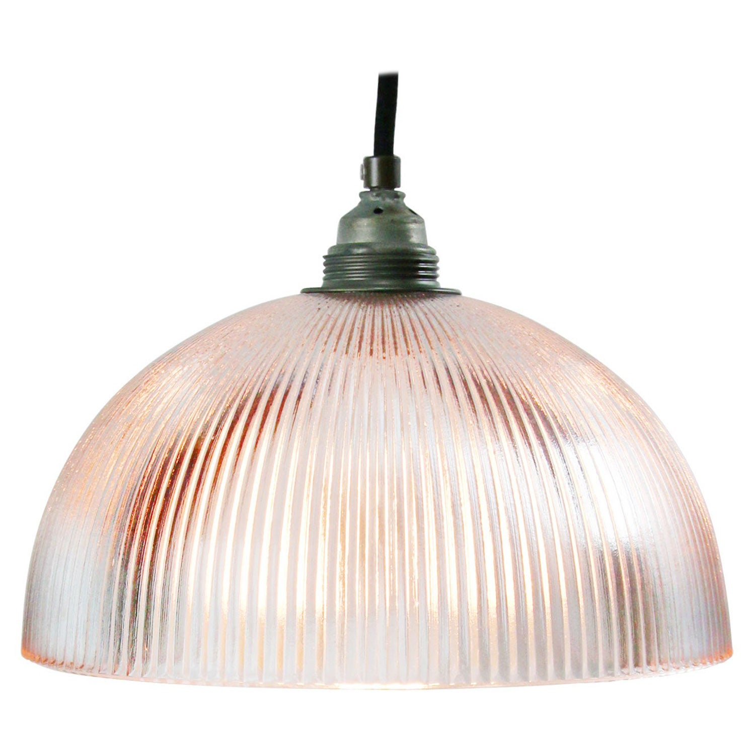 Glass Shade Industrial Holophane Glass Pendant Lights