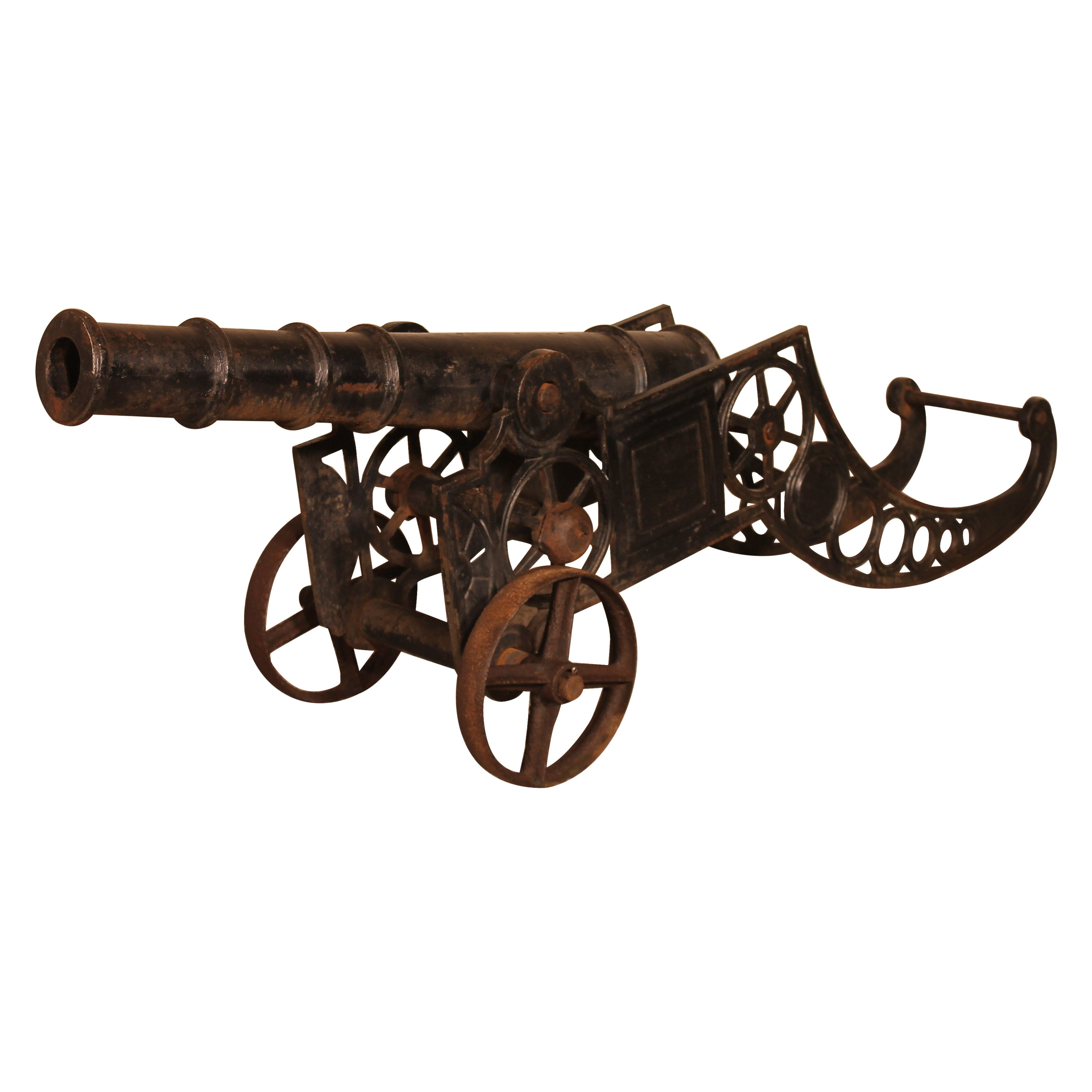 Decorative Cast Iron Cannon from England