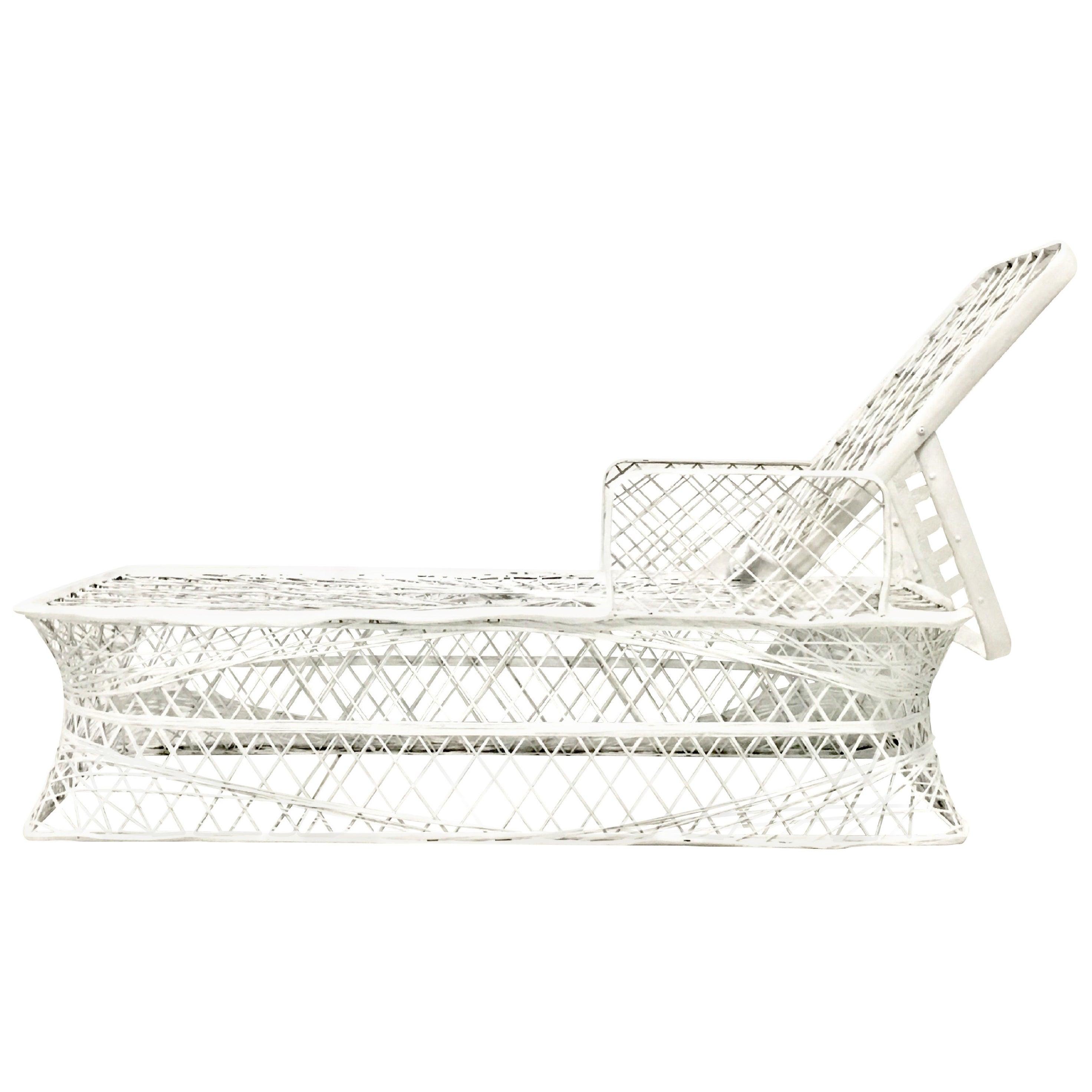 Mid-Century Modern Spun Fiberglass Chaise Lounge Chair by Russell Woodard