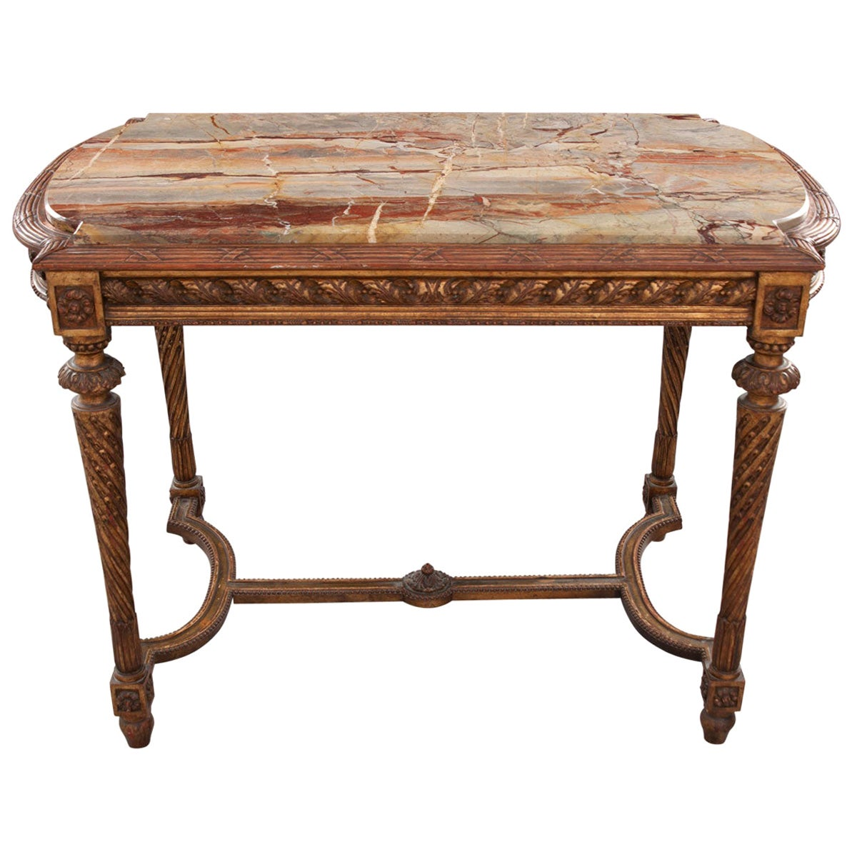French 19th Century Louis XVI, Style Giltwood Center Table