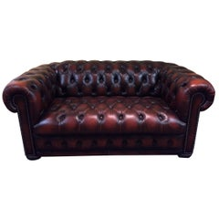 High Quality Chesterfield Two-Seat Sofa Made in England
