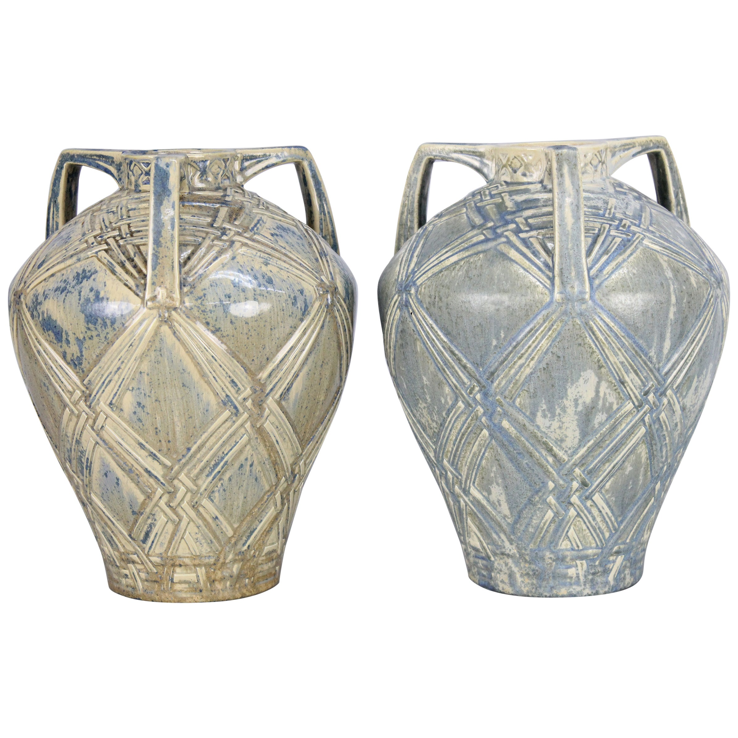 Rörstrand a Pair of Swedish Grace Vases, circa 1930