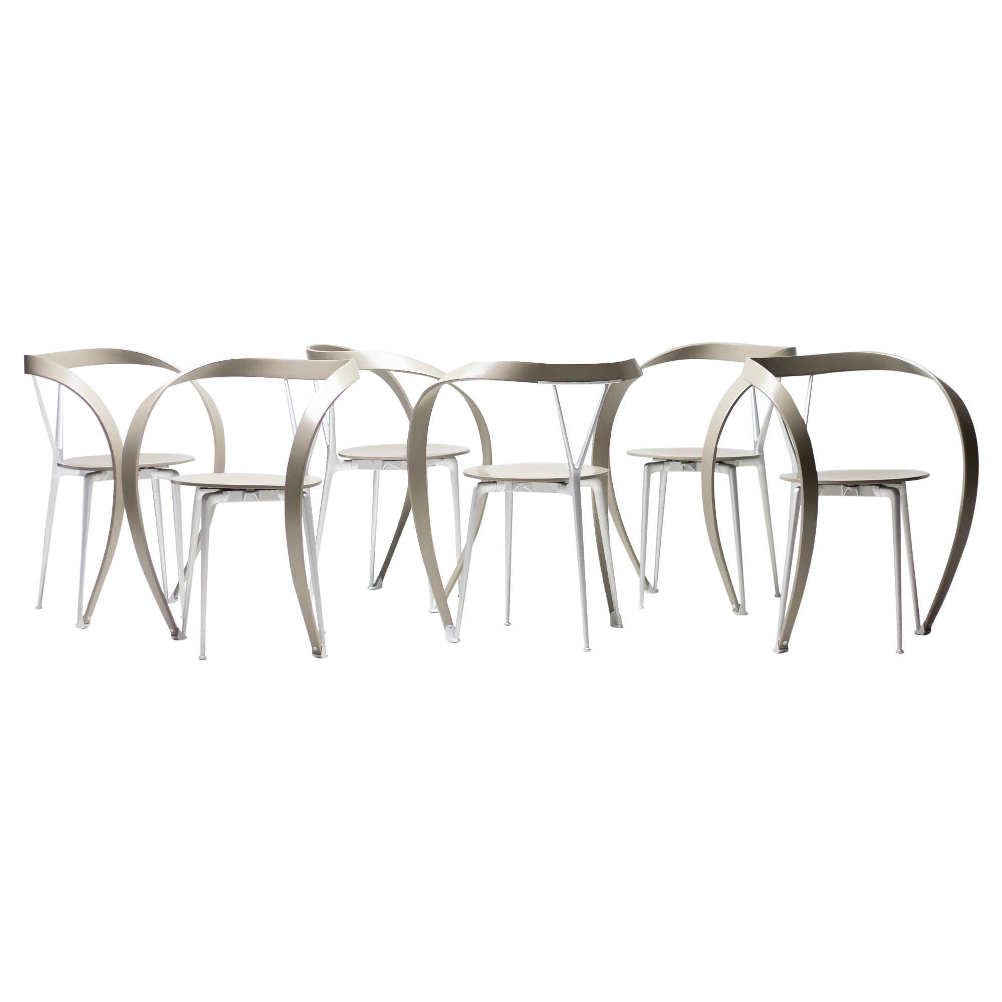 Set of Six Revers Chairs by Andrea Branzi for Cassina