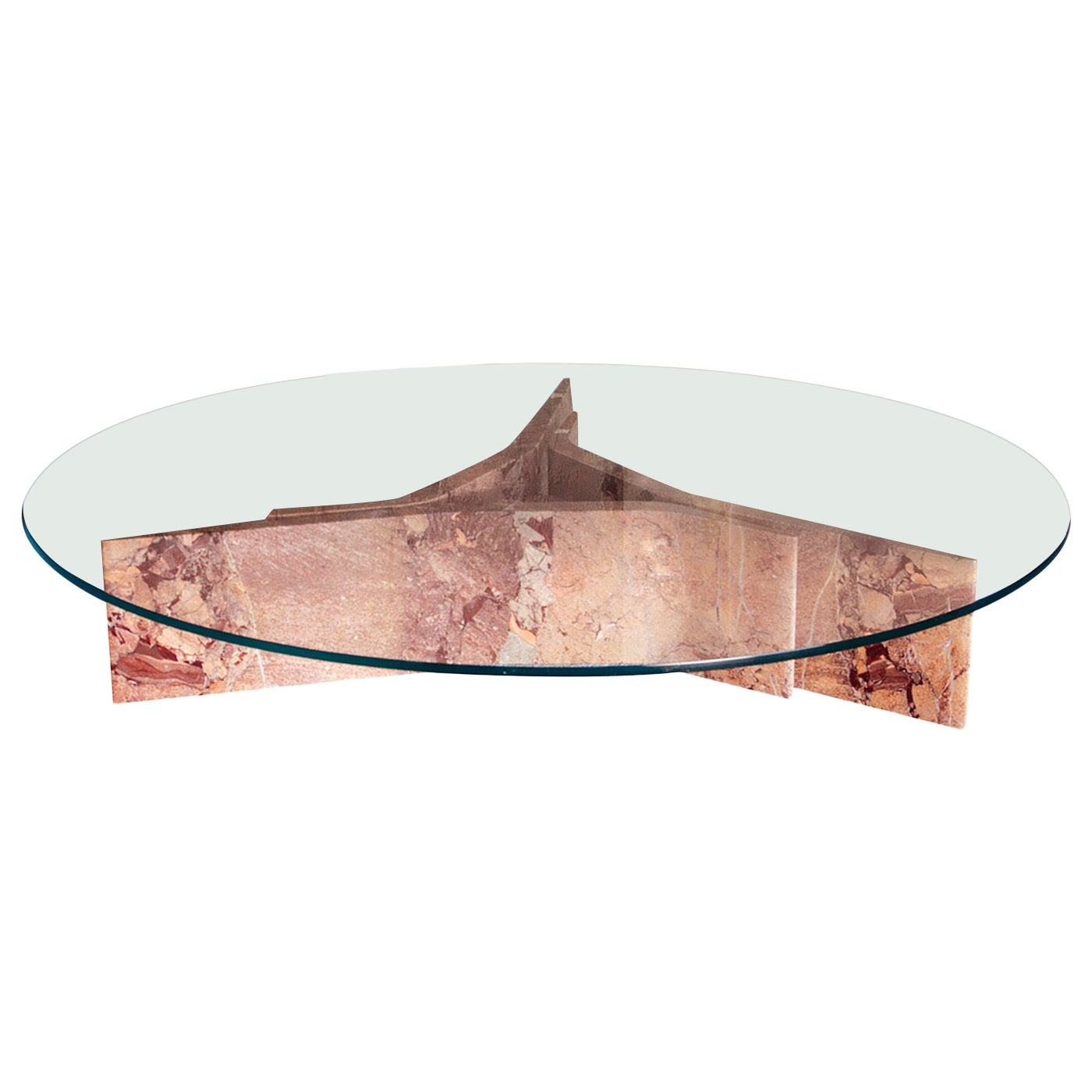Filo Limited Edition Coffee Table with Versailles Marble Base