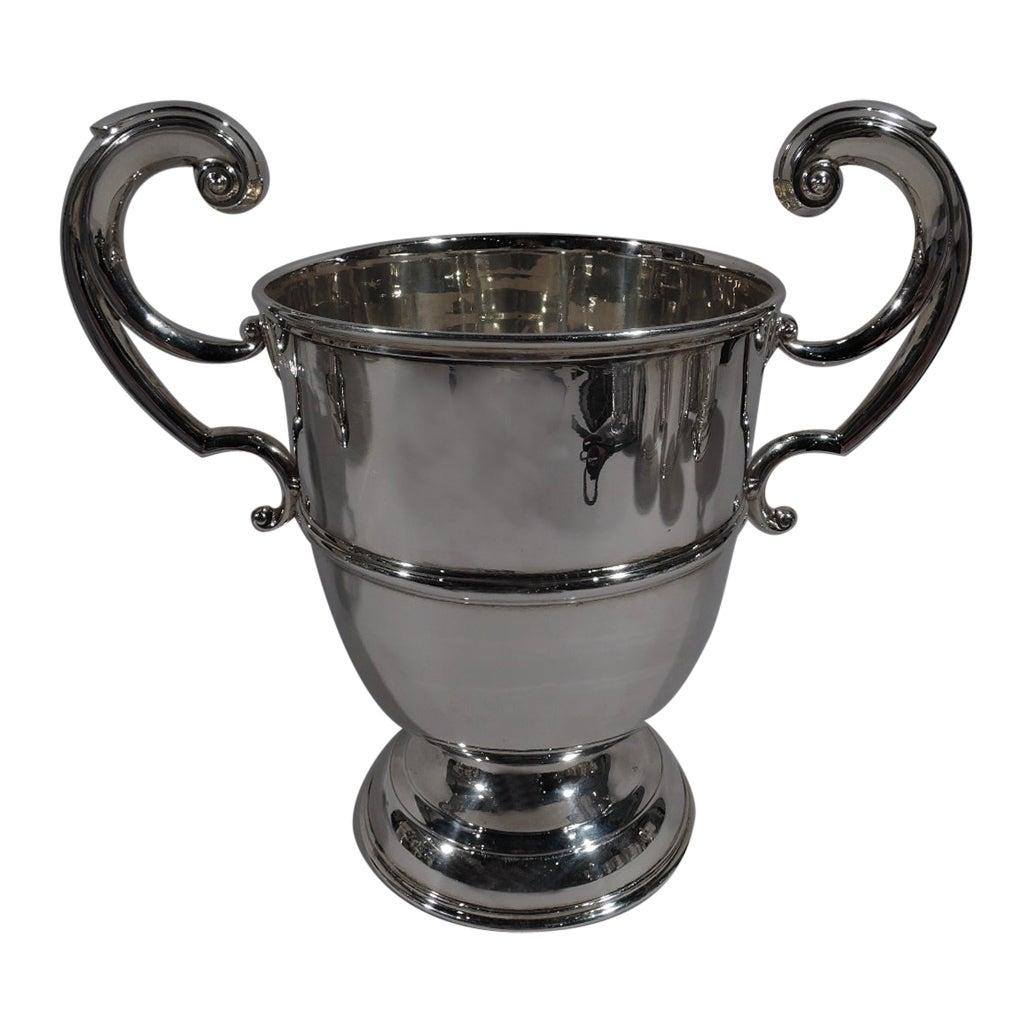 Irish Edwardian Georgian Classical Sterling Silver Urn Trophy Cup
