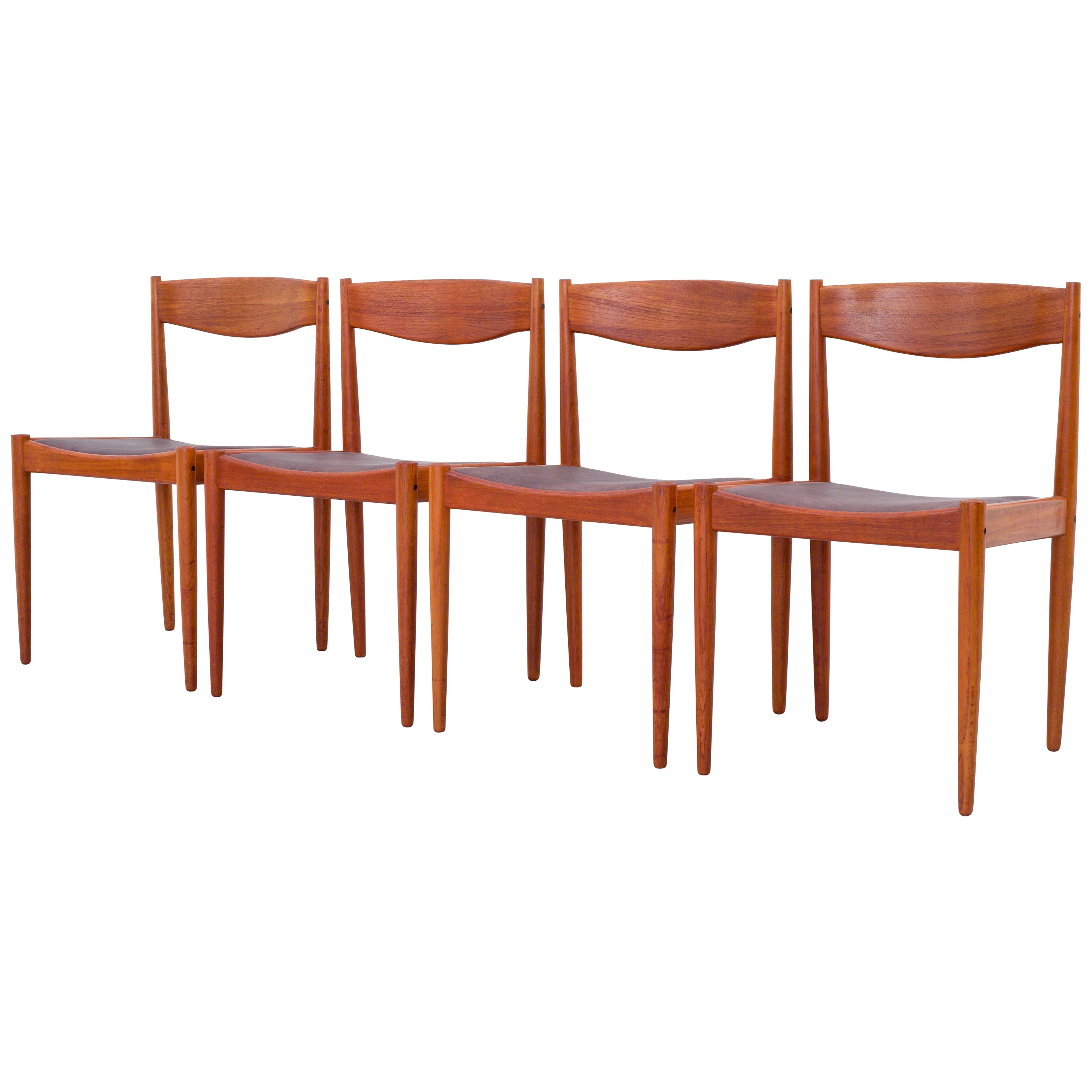 Set of 4 Dining Chairs in Teak by H.W. Klein for Bramin Mobler, Denmark, 1960