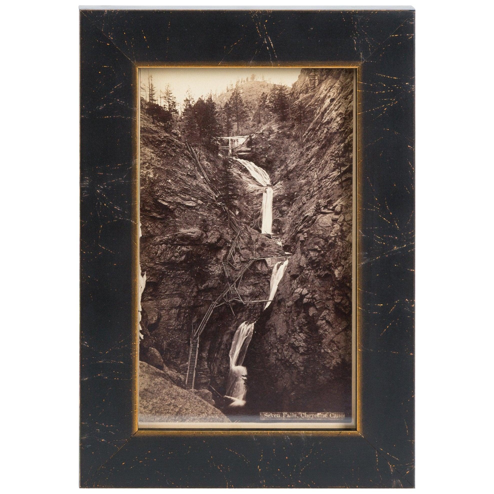 Seven Falls Colorado Springs Antique Photographic Postcard, circa 1880
