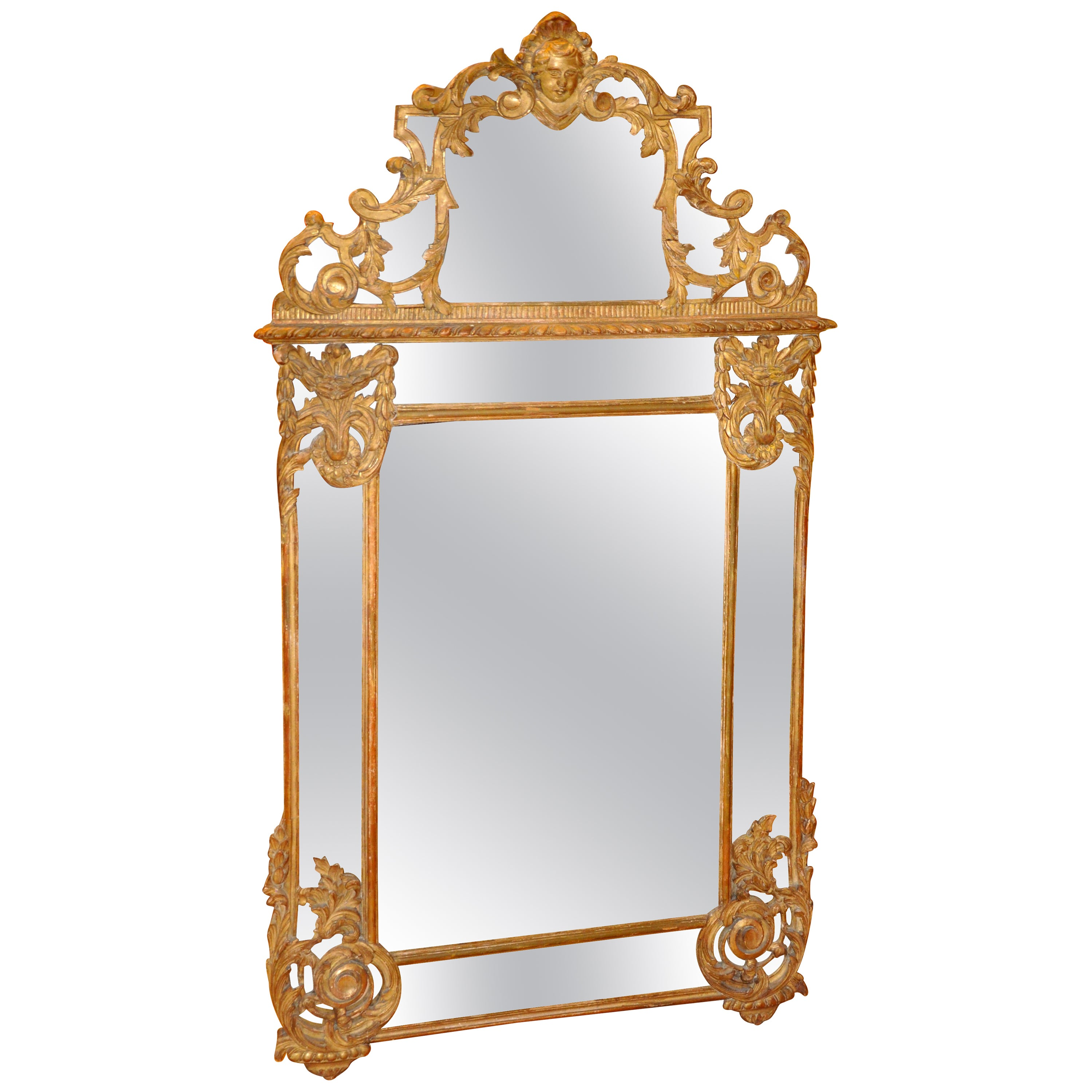 19th Century French Giltwood Regence Style Mirror