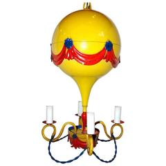Painted Tole Balloon Chandelier