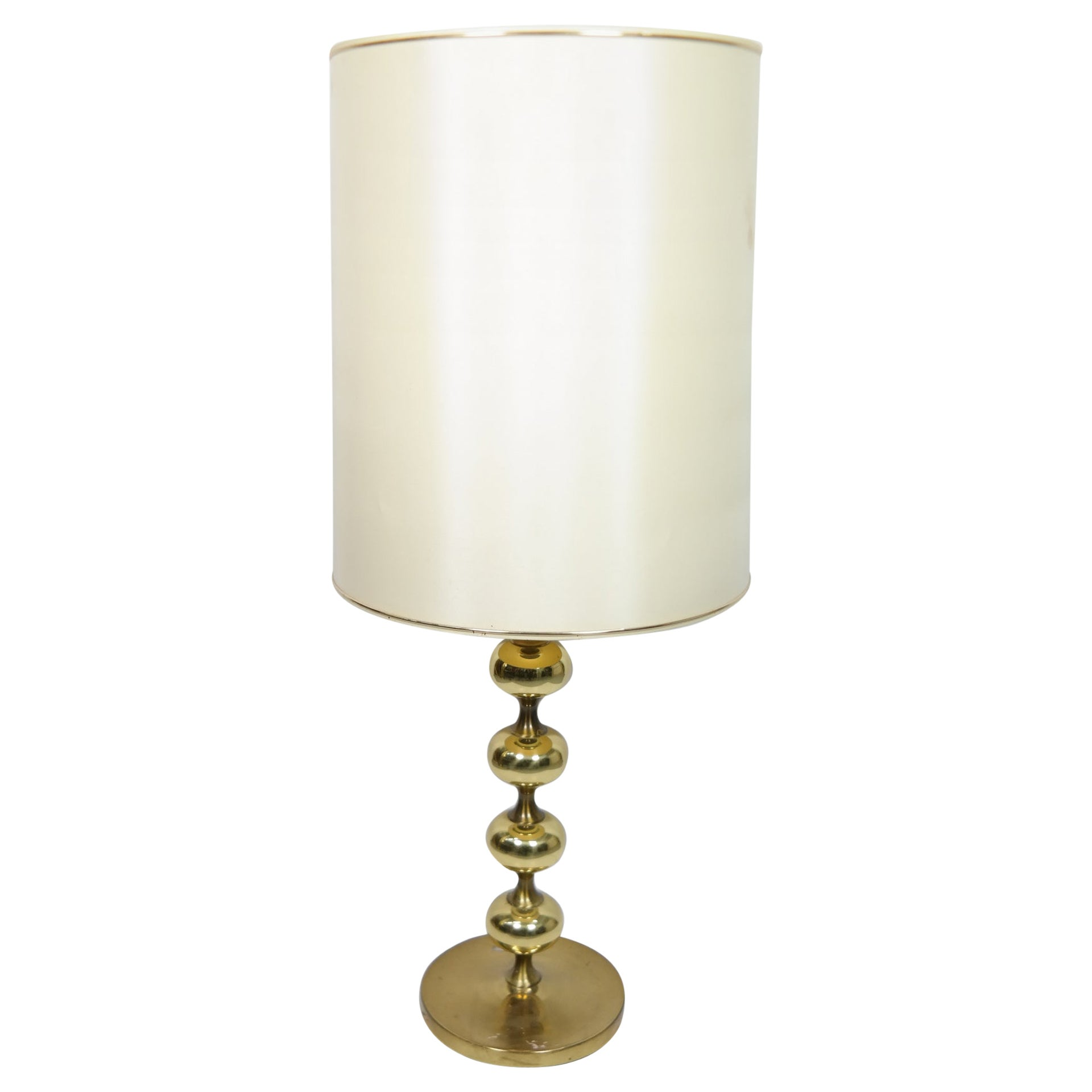 Hollywood Regency Style Brass Table Lamp, 1960s
