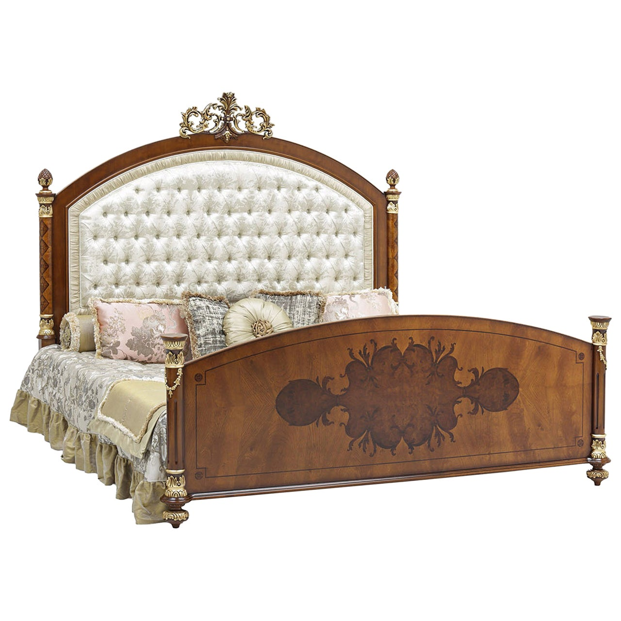 Nabucco Off-White Queen Bed Frame