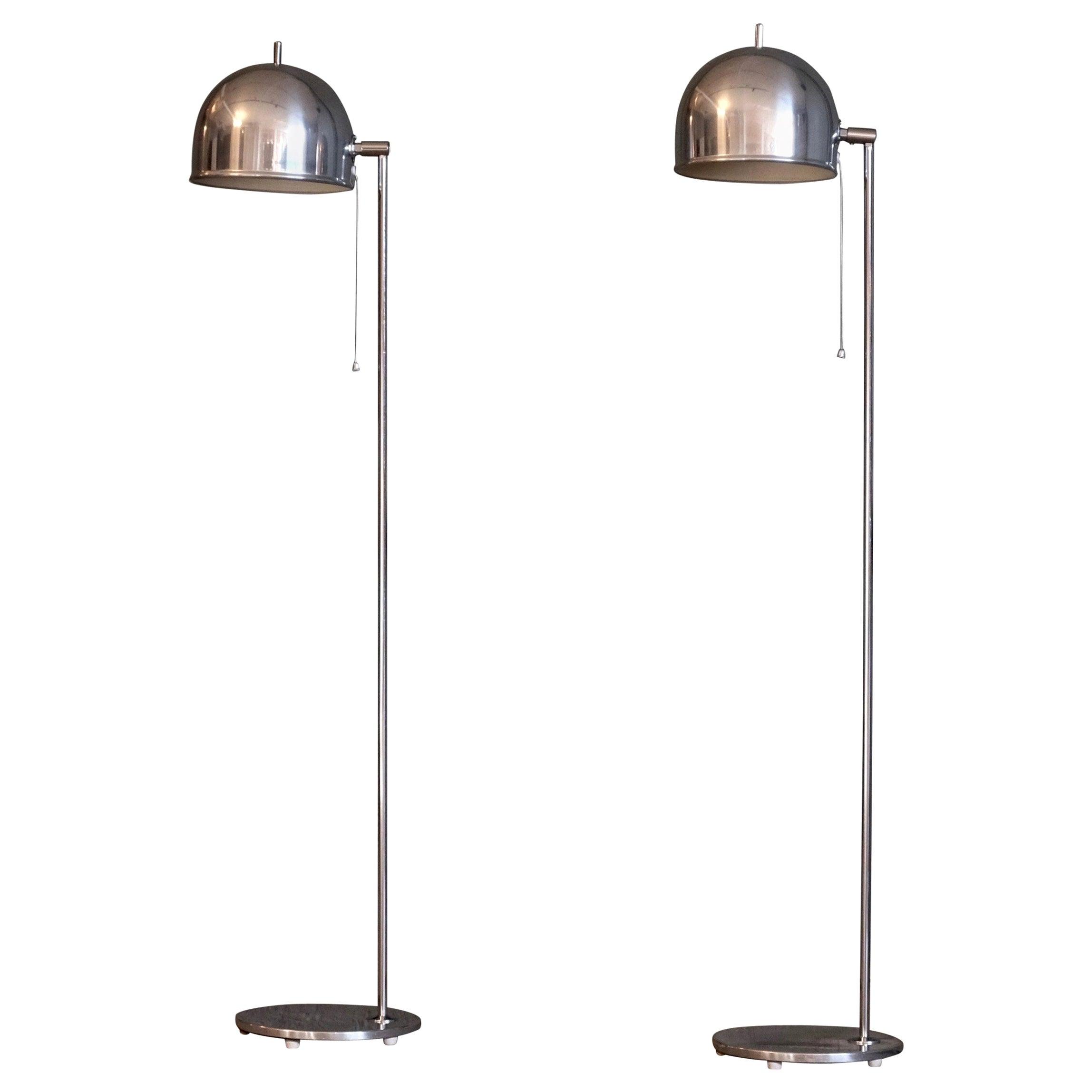 Pair of Floor Lamps Model G-075 by Bergboms, Sweden, 1960s