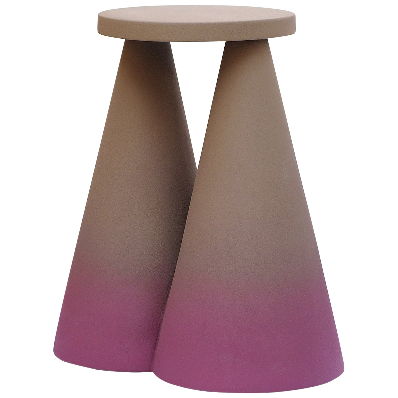 Isola/ Ceramic Conic Side Table/ Purple, Designed by Cara/Davide for Portego