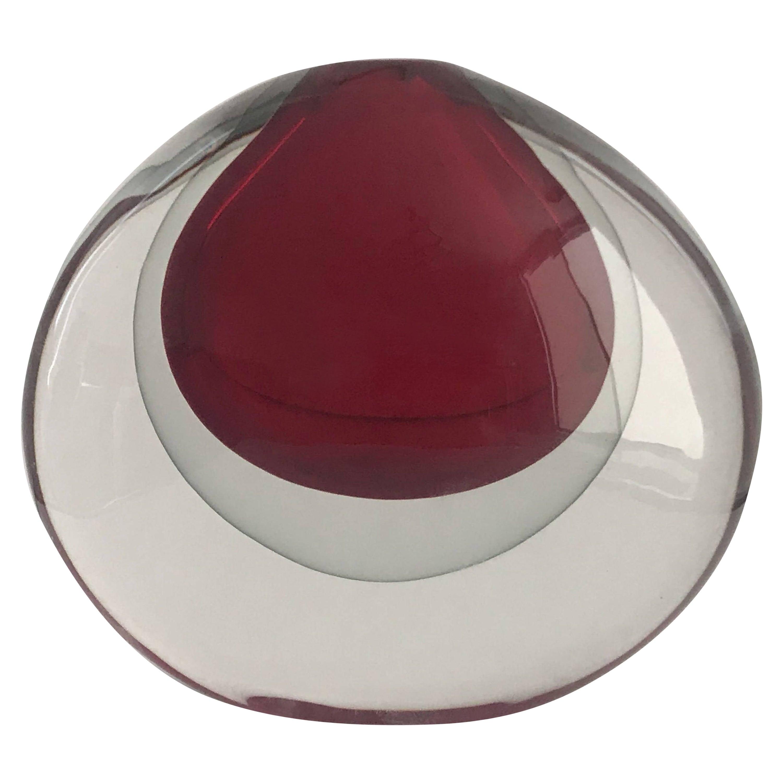 Sommerso Vase by Salviati