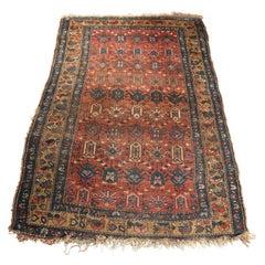Antique Kurdish Tribal Wool Oriental Rug, circa 1920