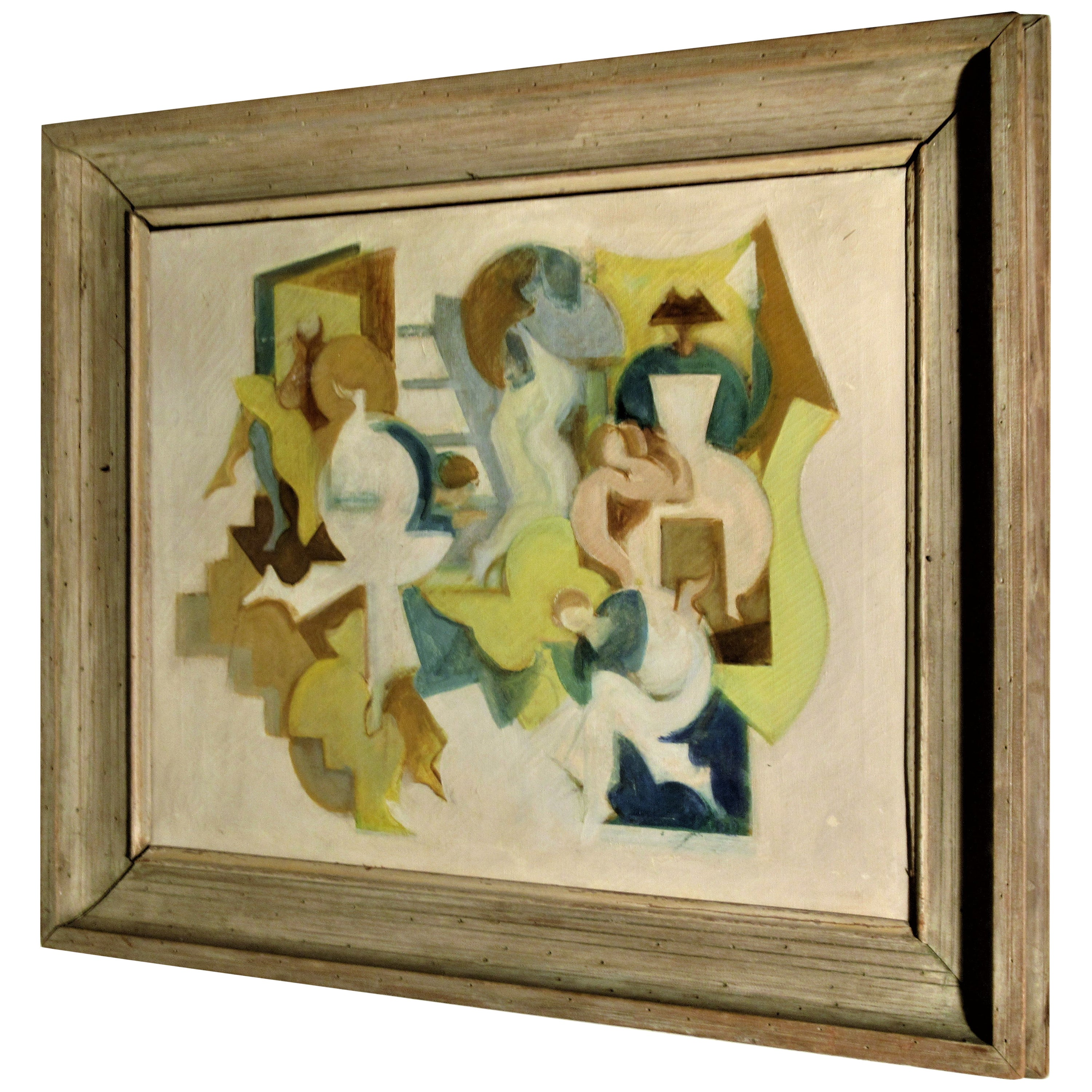 1940s Abstract Cubist Painting