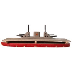 Midcentury Nautical Aircraft Carrier Toy