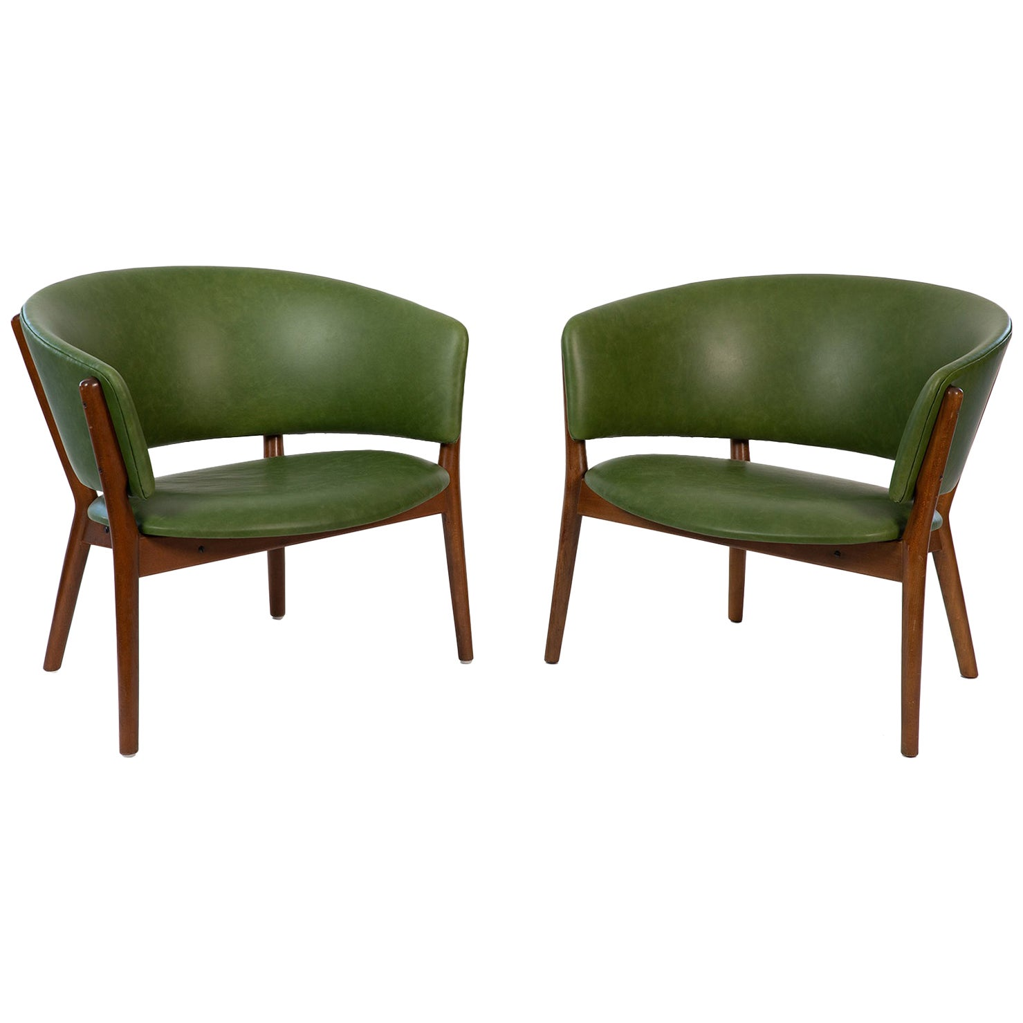 Nanna Ditzel ND83 Leather Lounge Chairs