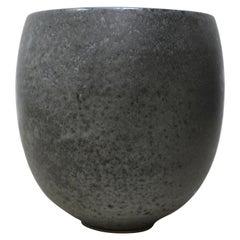 KH Würtz Medium Bonshō Bell Shaped Planter Granite Glaze