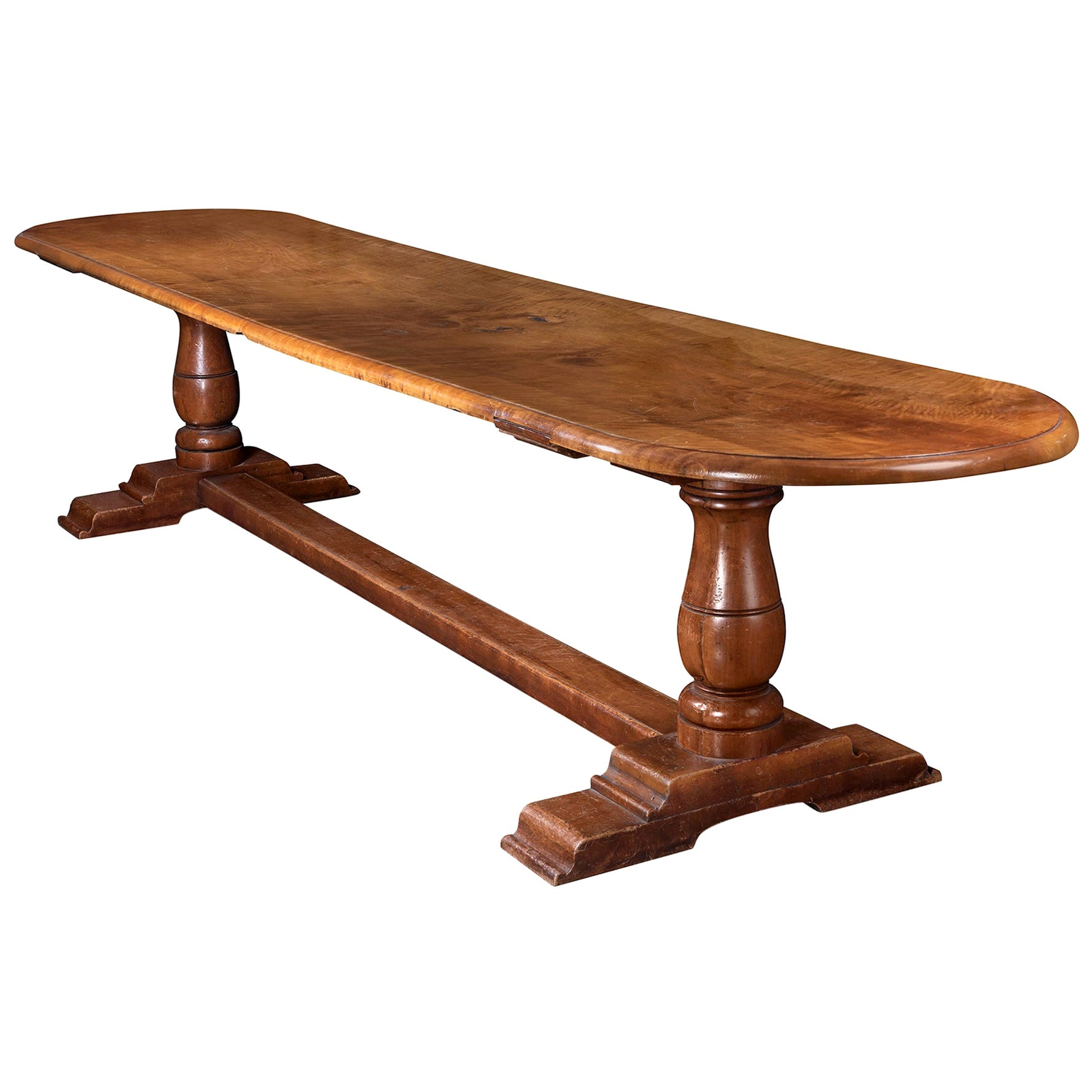English Elm Refectory Table, Early 19th Century